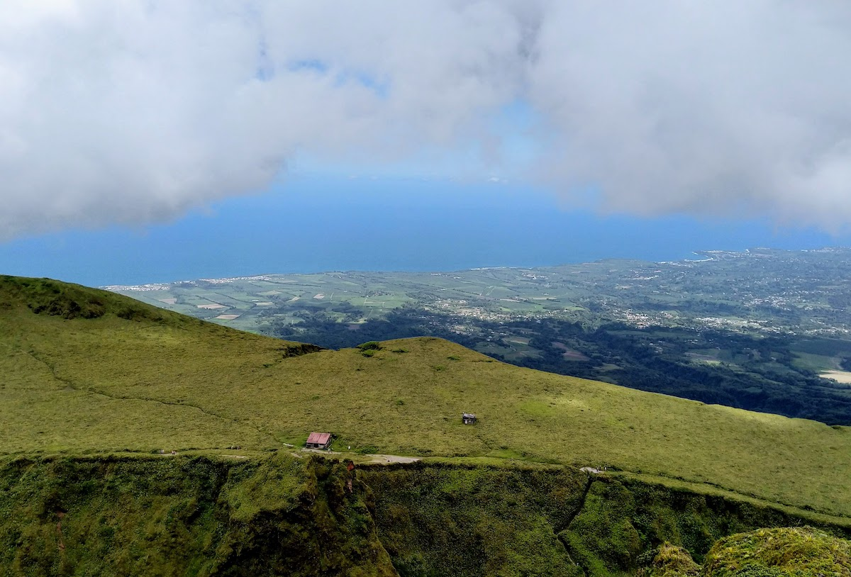 View from the top of Mount Pelee